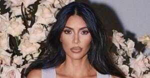 The risky nude bikini with which Kim Kardashian appeared in
