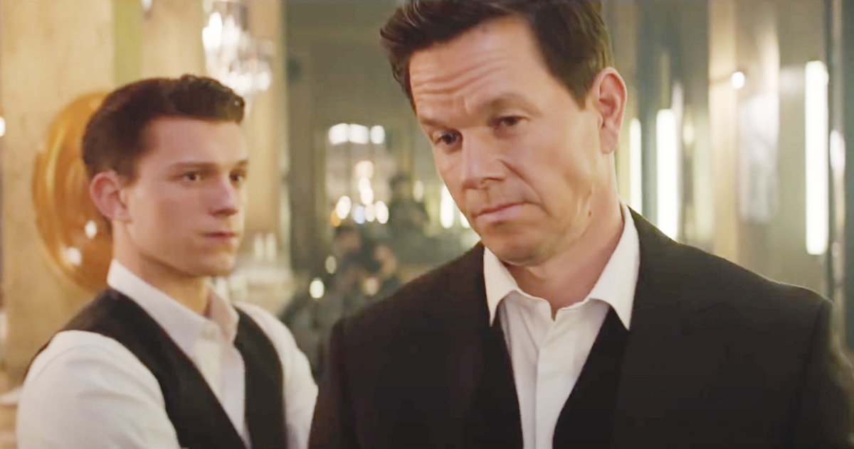 Tom Holland & Mark Wahlberg Dress To Kill For First Unexplored Streak