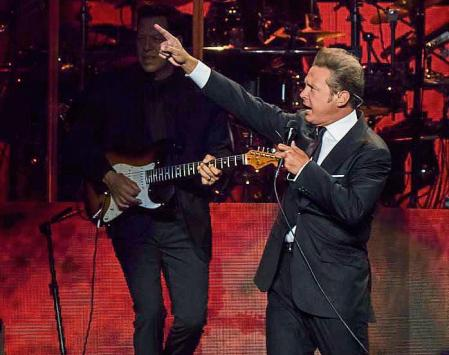Luis Miguel performs in concert at Madison Square Garden on Saturday, June 9, 2018, in New York. (Photo by Charles Sykes/Invision/AP)