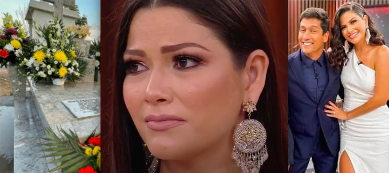 Depressed? After giving up television to take care of her children, Ana Patricia Gámez is having a bad time and takes refuge in the cemetery? Raises suspicions (PHOTOS)