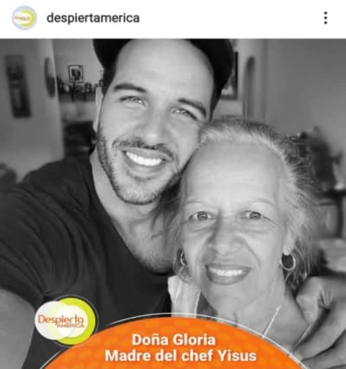 Chef Yisus's mother dies and Despierta América sends its condolences
