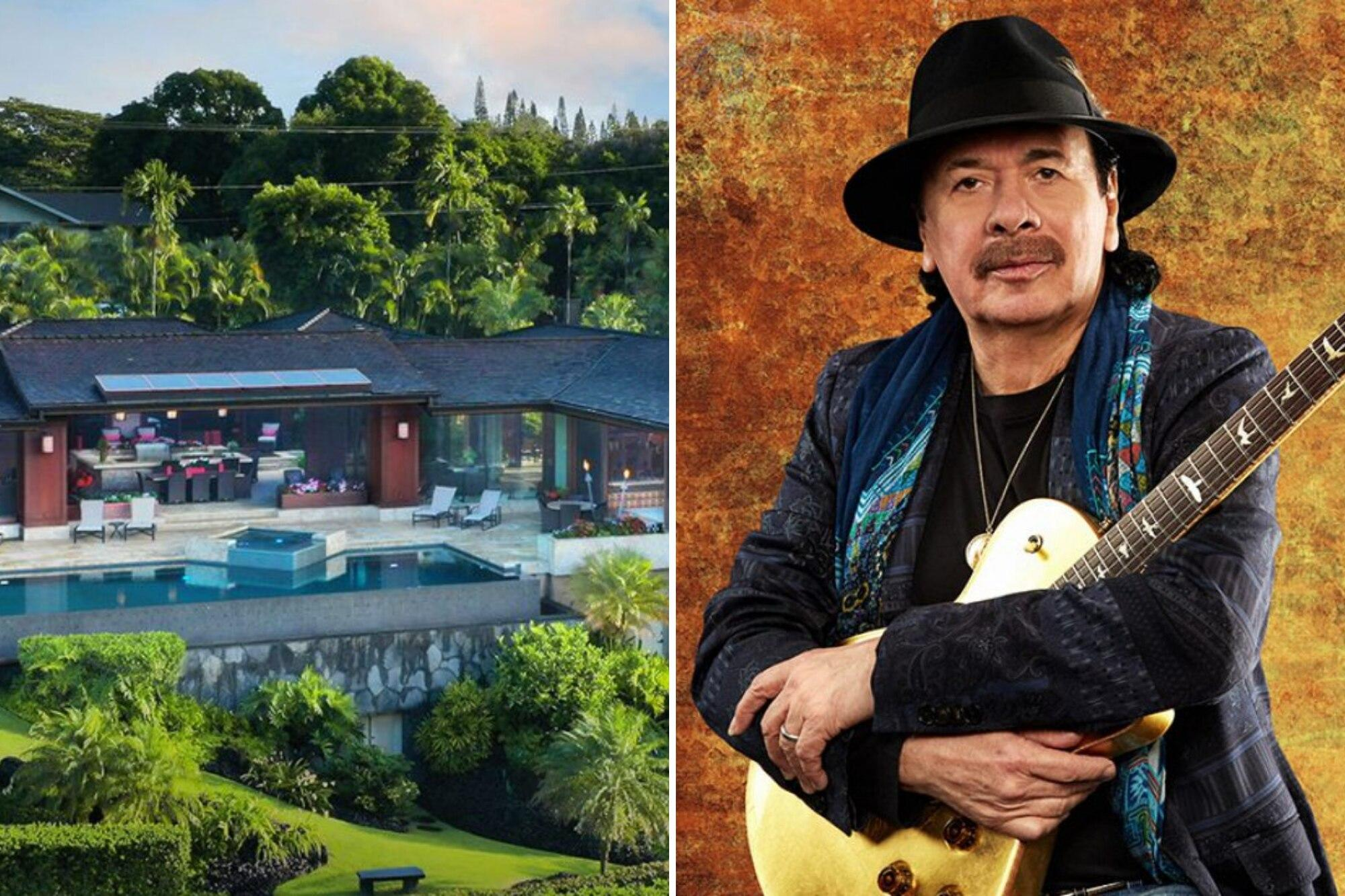 Carlos Santana's New Home in Hawaii: Private Spa and Saltwater Pool