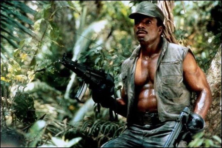 Carl Weathers in Predator (1987), the film starring Arnold Schwarzenegger