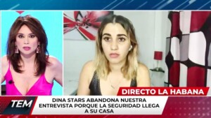 They arrested a Cuban YouTuber while she was going live on television