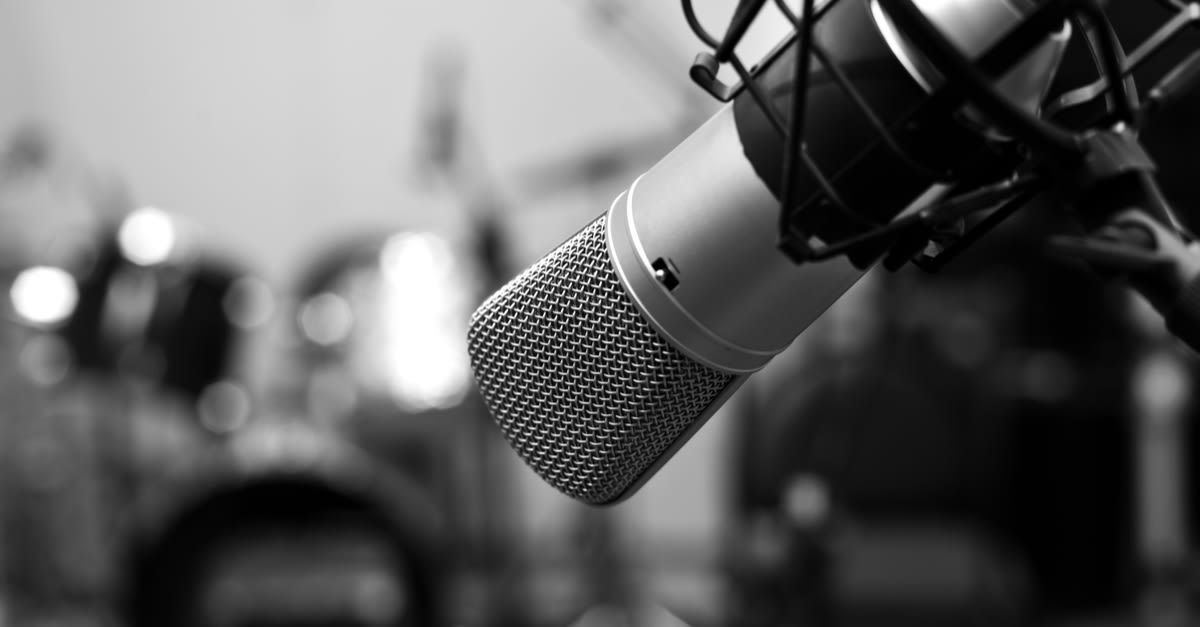 A studio mic like the ones Blades uses