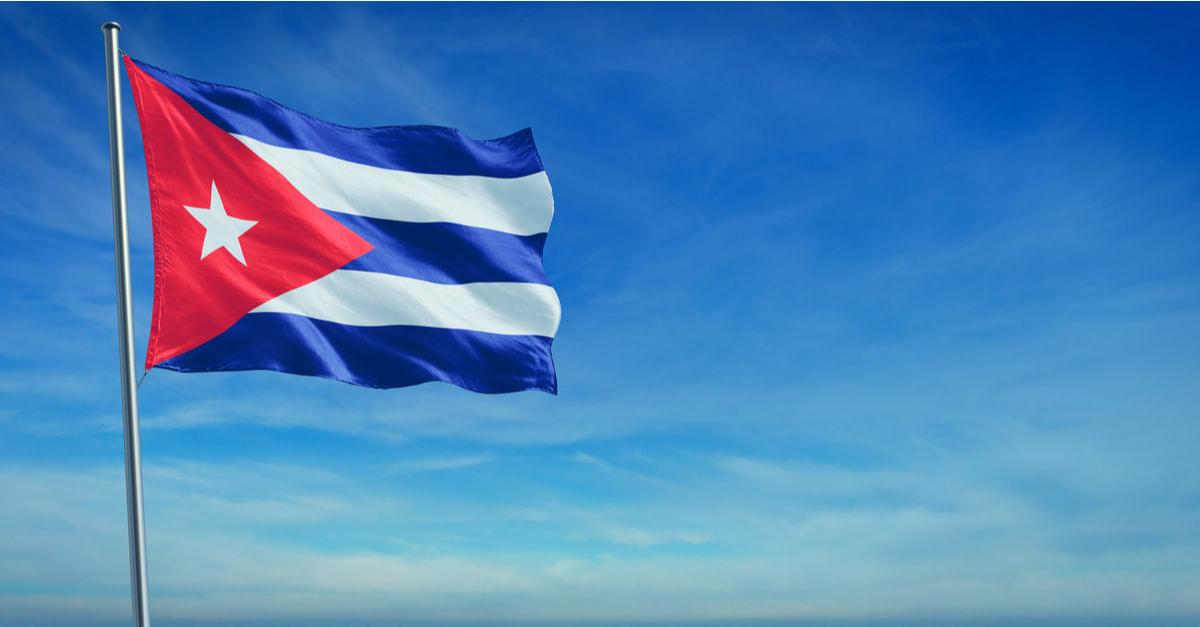 The flag of Cuba