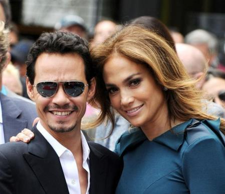 Singer and actress Jennifer Lopez and husband Marc Anthony attends SimonFuller's Hollywood Walk of Fame Star ceremony on May 23, 2011 in Hollywood, Ca