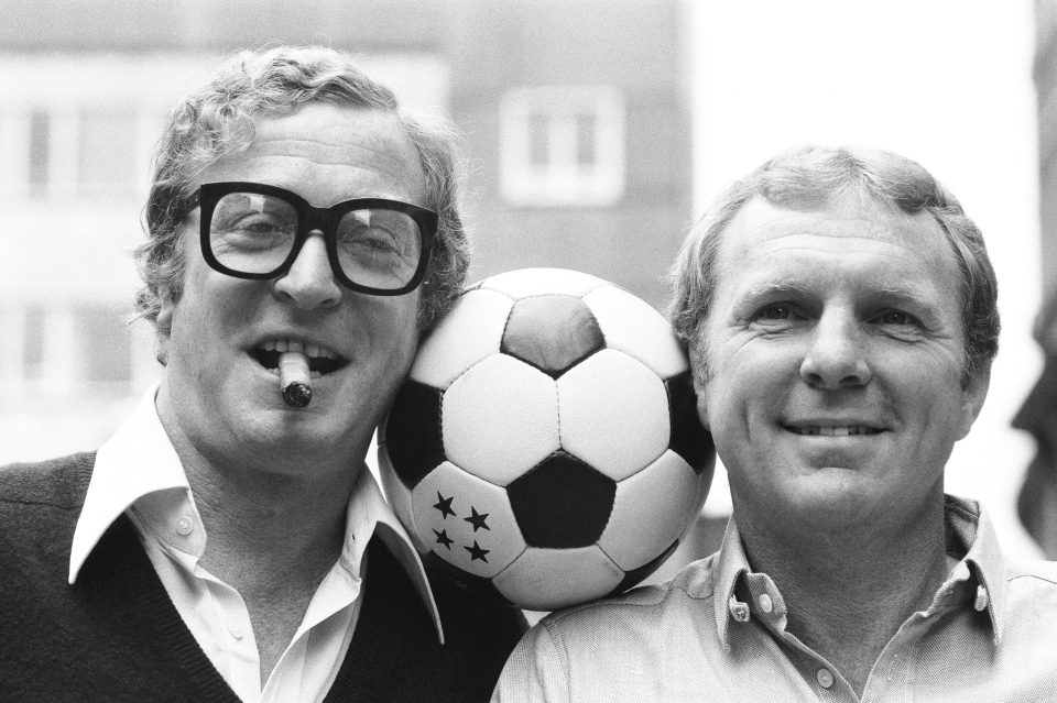 Caine and Moore also starred in Escape to Victory