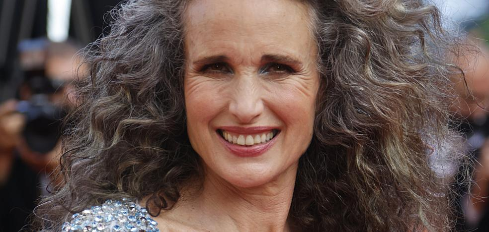 Andie MacDowell's surprising mane at the Cannes Film Festival proving that gray hair is the new favorite rejuvenating trick of the famous