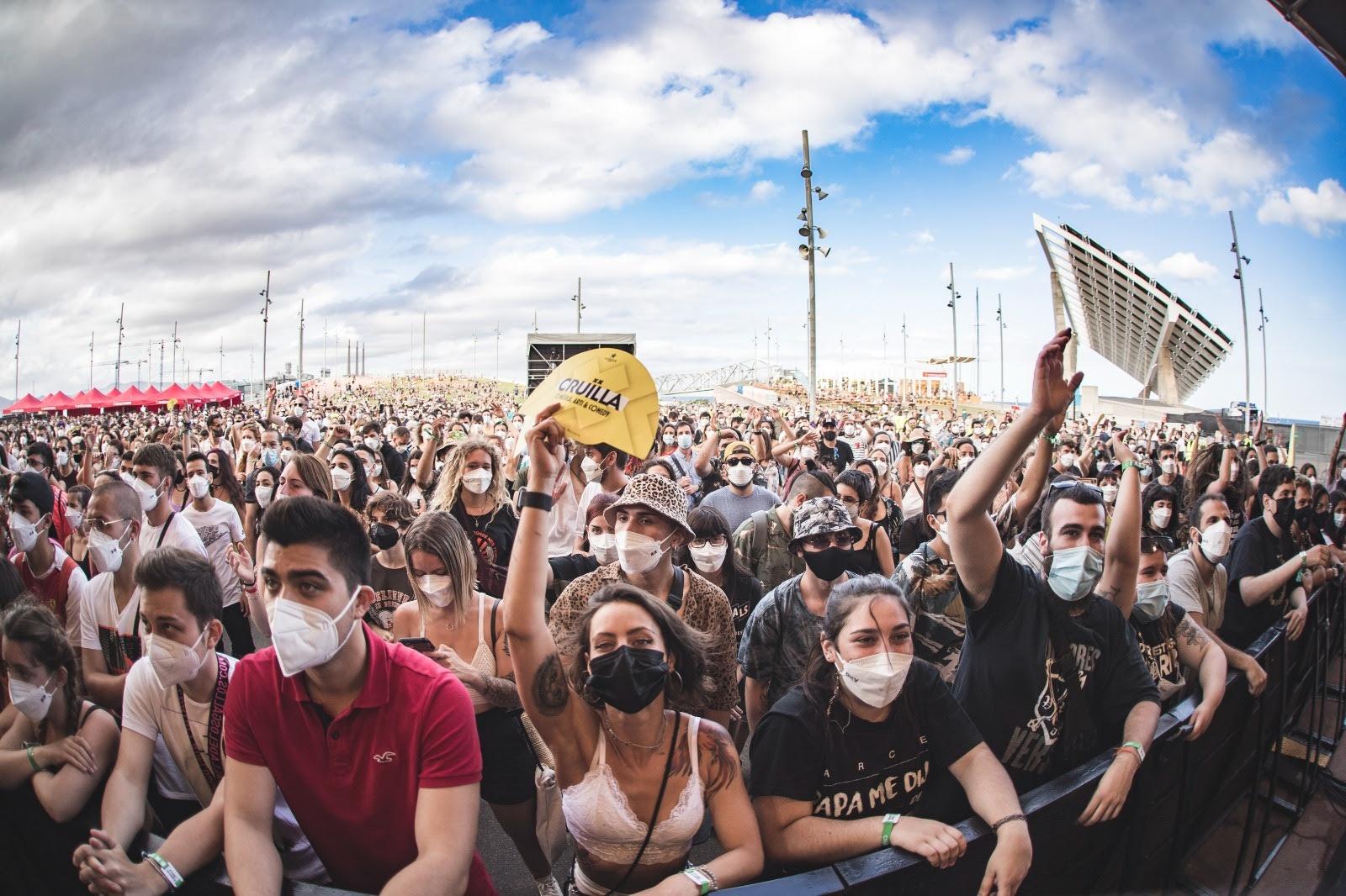 """Barcelona celebrated Cruïlla, a music festival in a """"safe bubble"""" free of covid"""