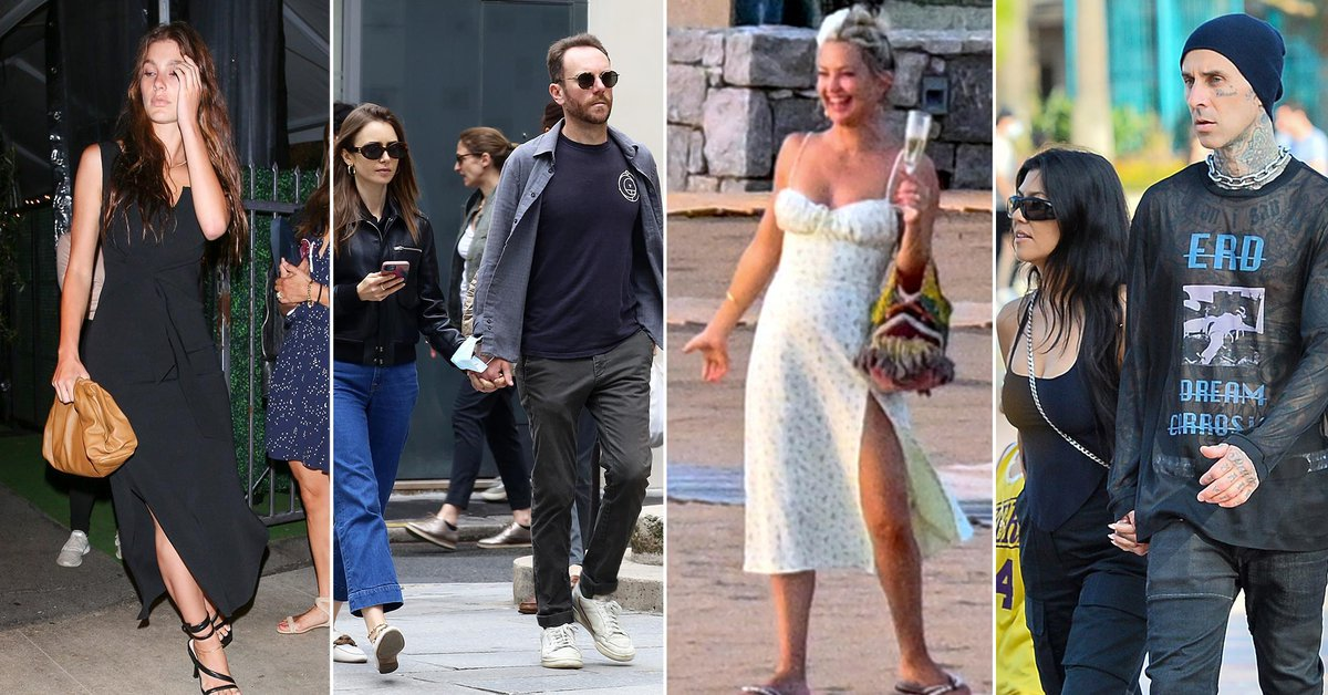 From Kate Hudson's fun vacation in Greece to Lily Collins and Charlie McDowell's romantic walk in Paris: celebrities in one click