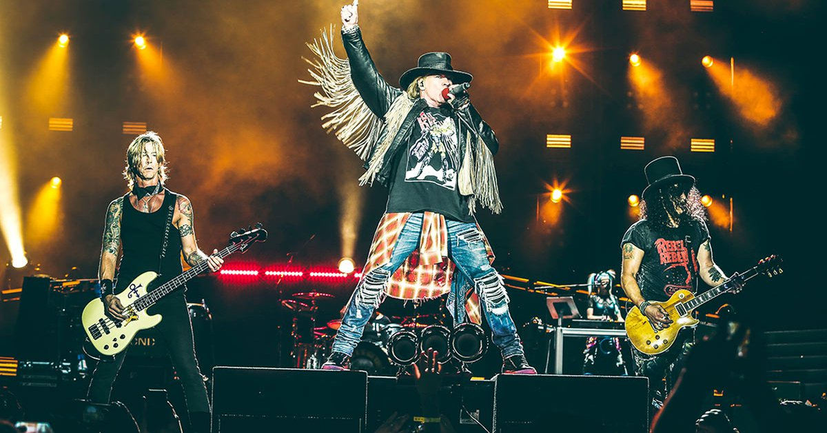 Guns NRoses announced three concerts in