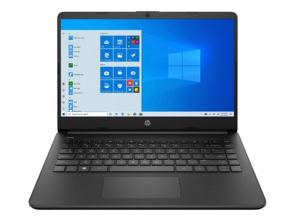 HP 14s-fq0070nf, Fast and Thin Lightweight 14 ″ Black Office Laptop PC with SSD and USB-C