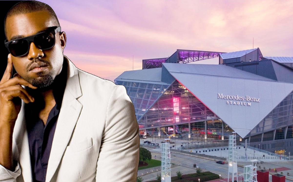 Kanye West lives at the Mercedes-Benz Stadium in Atlanta