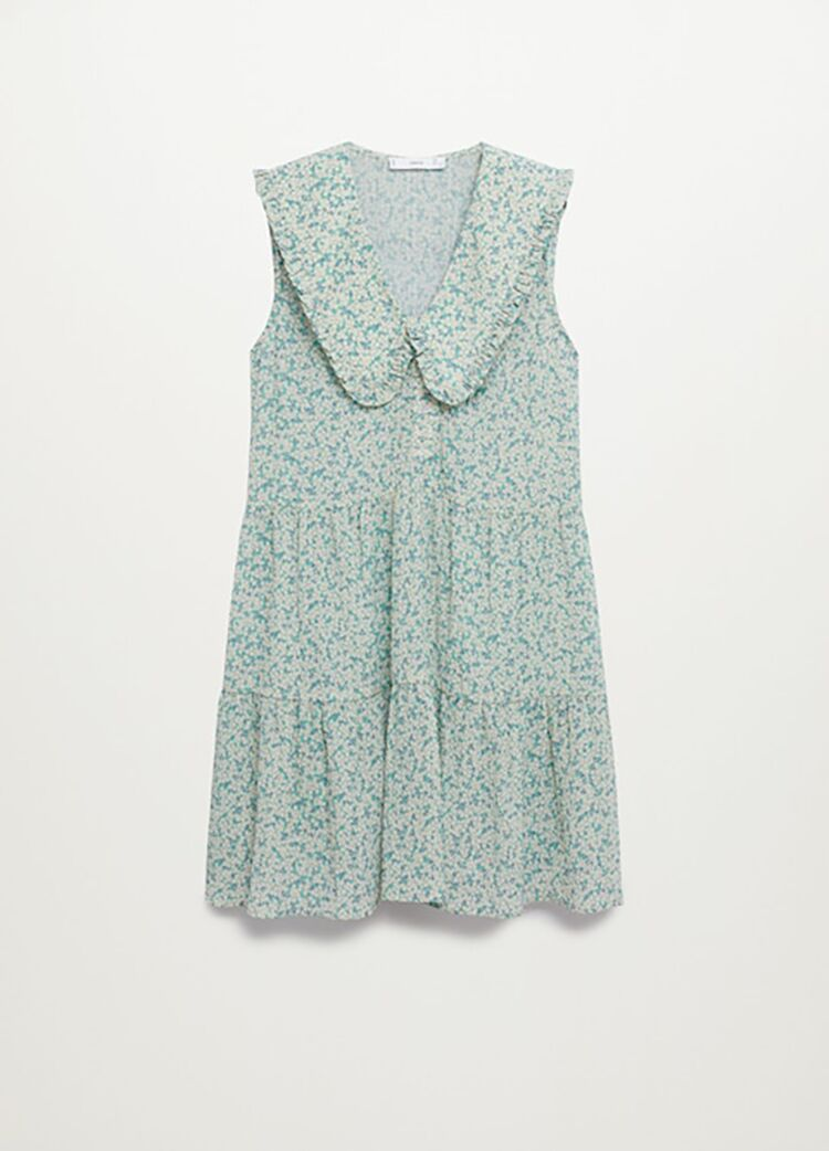 Lily Collins: her floral dress comes from Mango and costs less than 26 euros! - Here is