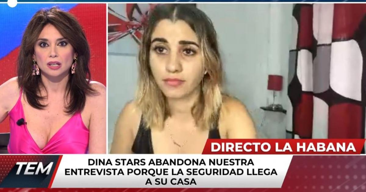 They arrest Cuban youtuber Dina Stars when she spoke live for a television channel in Spain