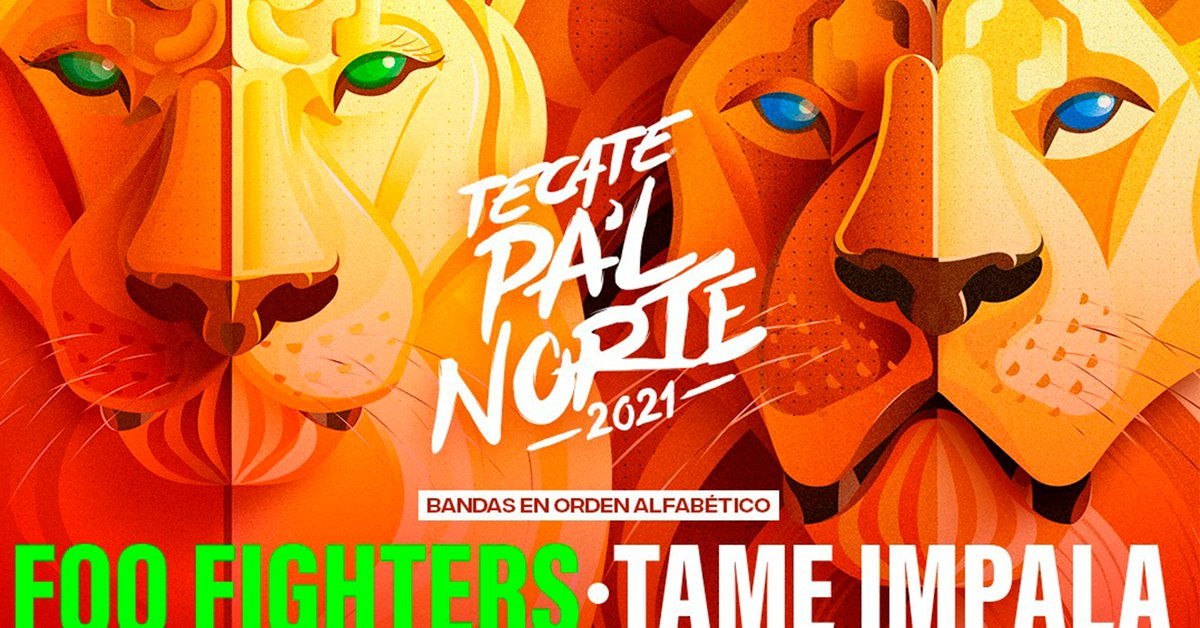 This is the poster for Tecate Pal Norte 2021 from