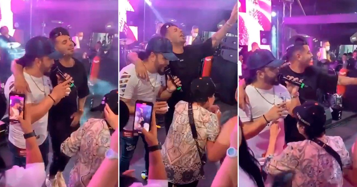 Video: Singer reveals party images with Edwin Cardona a few hours after the Boca party for Libertadores