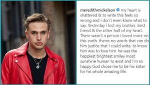 What did Daniel Mickelson die of? The heartbreaking goodbye of his sister Meredith on Instagram (PHOTO)