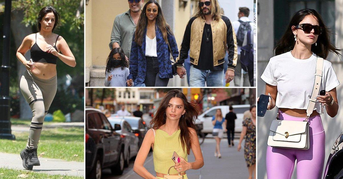 Zoe Saldana and Marco Peregos family outing in Milan Emily