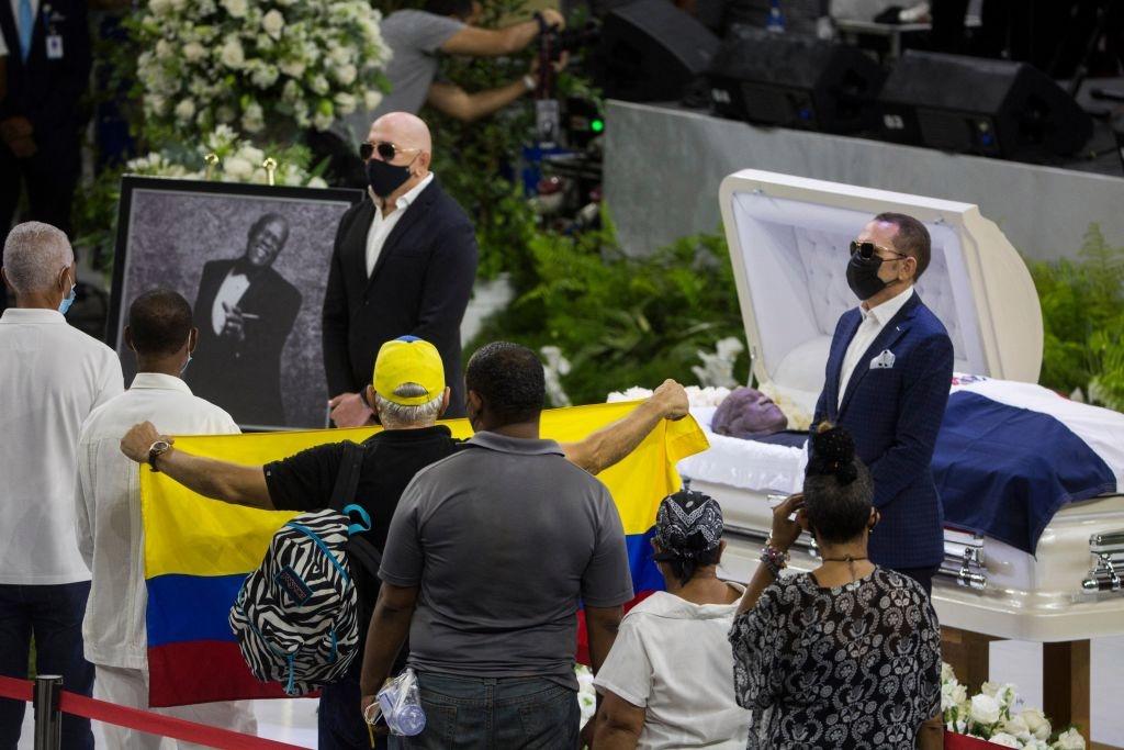 The emotional last goodbye to music legend Johnny Ventura
