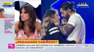 The kisses that Maluma steals from his fans at concerts create controversy in 'Public mirror'