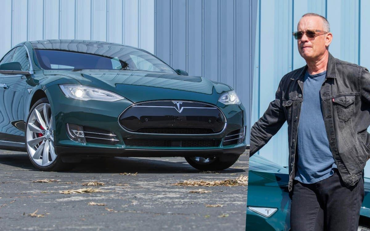 1627945017 Tom Hanks Tesla Model S up for auction an