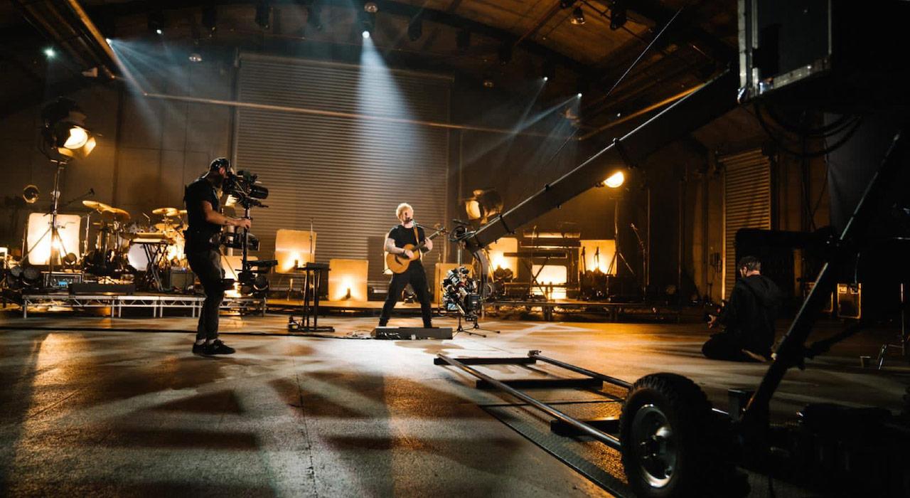 Ed Sheeran records a virtual concert with Blackmagic cameras