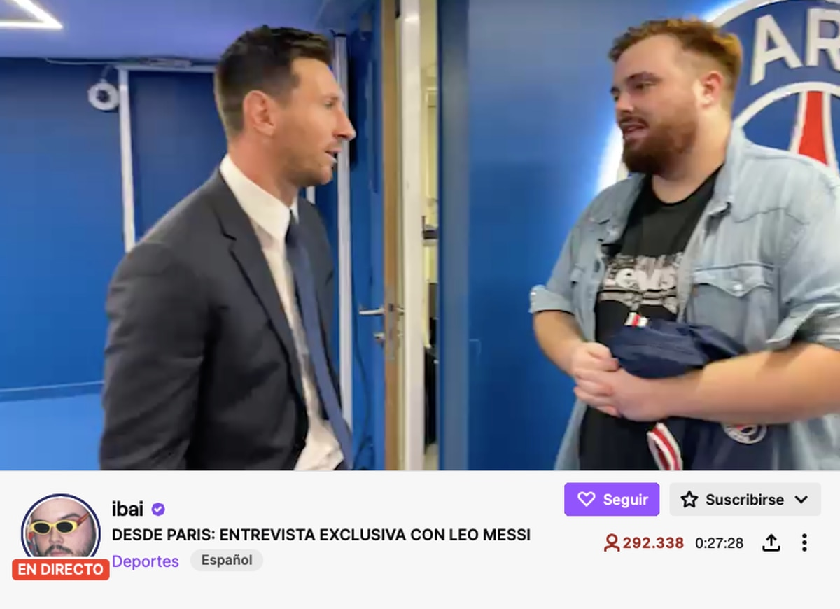 Ibai Llanos manages to gather more than 300,000 viewers live with his interview with Leo Messi on Twitch