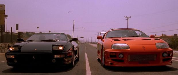 """A shot of the Ferrari 360 in """"Fast and furious"""". (Foto: Universal Pictures)"""