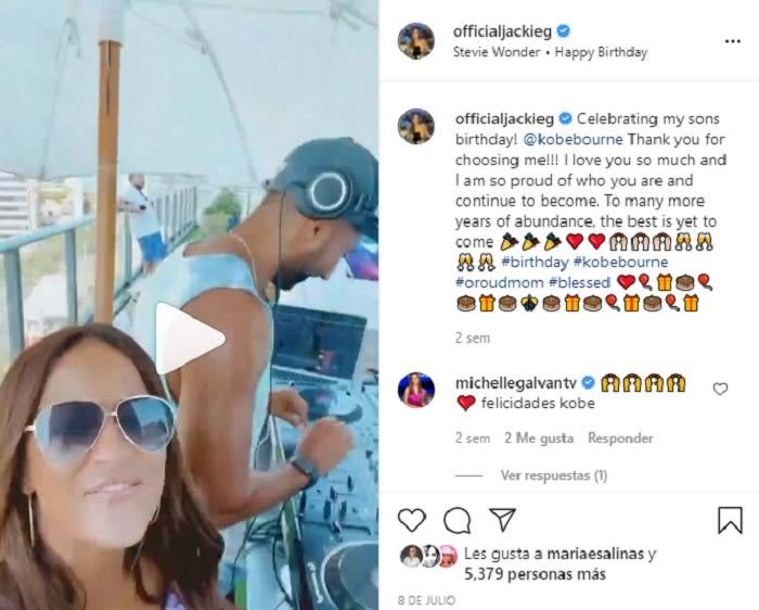 Jackie Guerrido celebrates her son's birthday