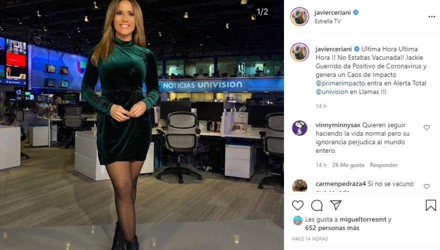 Jackie Guerrido is positive for coronavirus