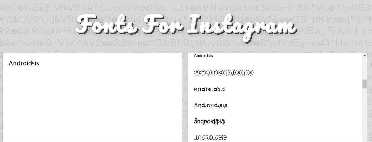 fonts for instagram