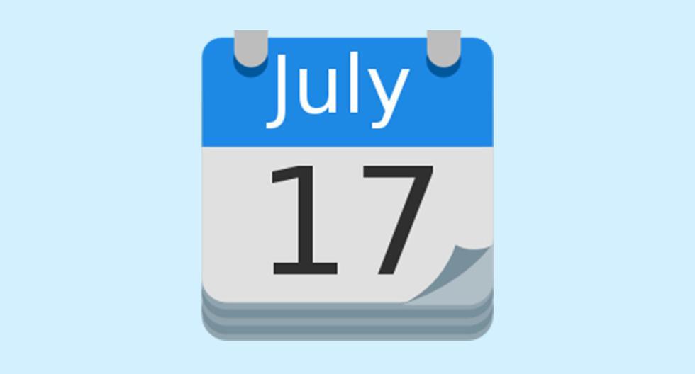 Why does the WhatsApp calendar emoji mark July 17