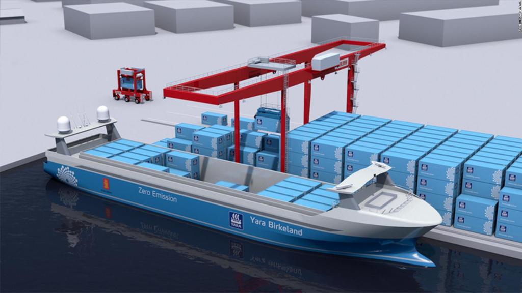 See the world's first autonomous, zero-emission cargo ship