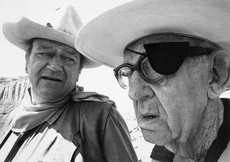 John Wayne and John Ford in a 1971 picture