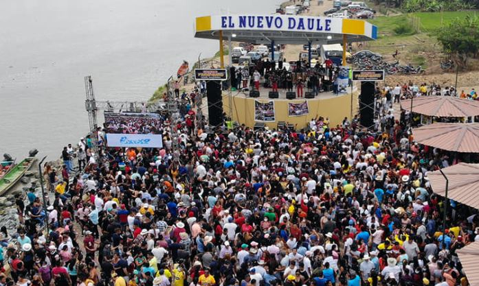 A concert 'for vaccinated' caused a massive agglomeration in Daule, in the province of Guayas - El Comercio