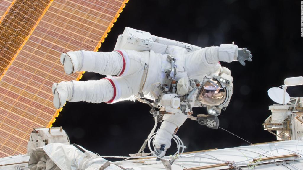Preparations for a spacewalk