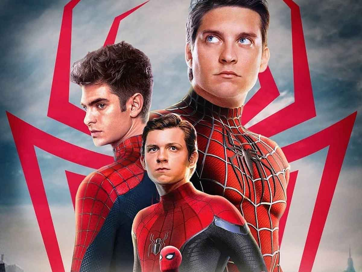 Filtered the first image of Andrew Garfield and Tobey Maguire together with the Spider-Man suit