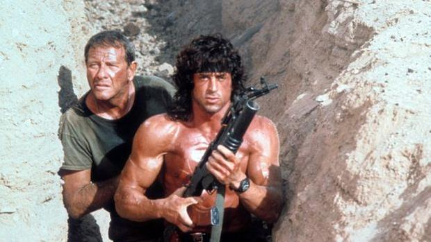 """In the film """"Rambo III"""" (1988) actor Sylvester Stallone played an American military man who fought in Afghanistan on the side of the Mujahideen during the Soviet invasion. (Columbia Tristar)"""
