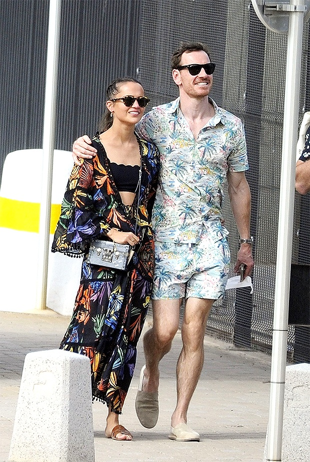 Alicia Vikander and Michael Fassbender look so happy in rare date photos E! News UK