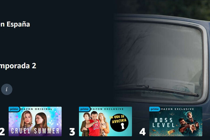 Amazon Prime Video releases its top 10: these are the most viewed series and movies on the platform