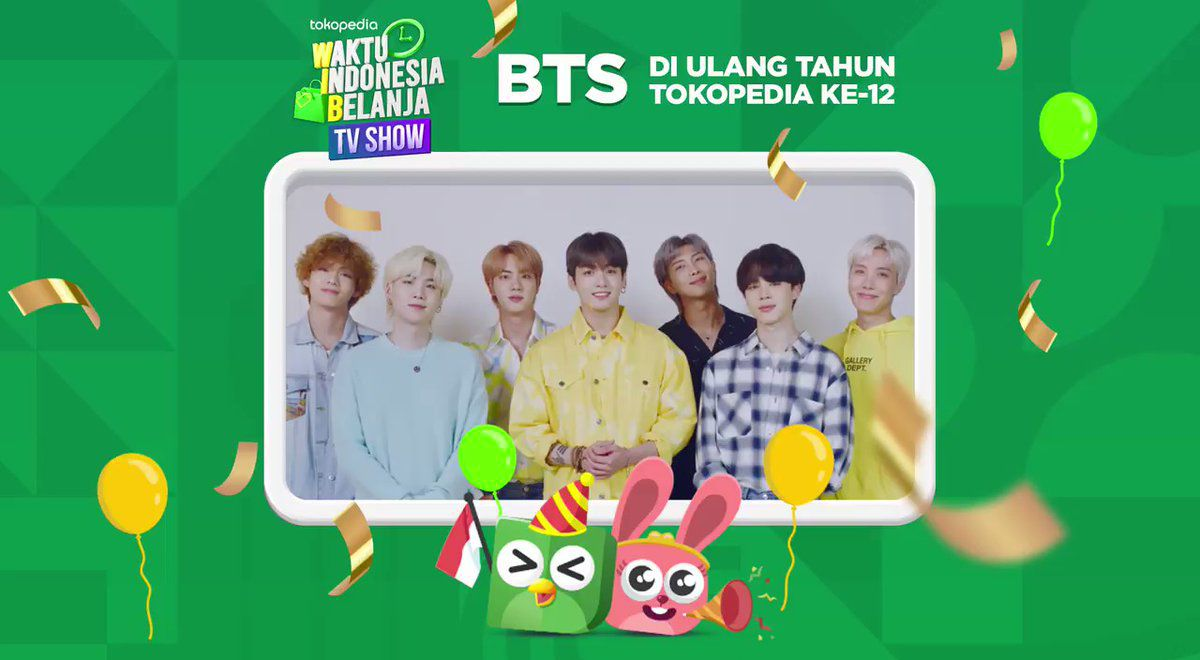 BTS returns to Tokopedia WIB TV Show when and where