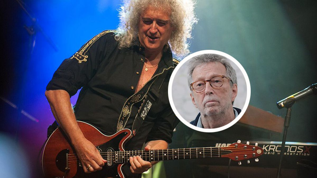 Brian May pokes Eric Clapton for his stance on the