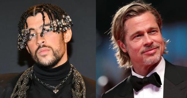 Bullet Train Brad Pitt hits Bad Bunny in first look