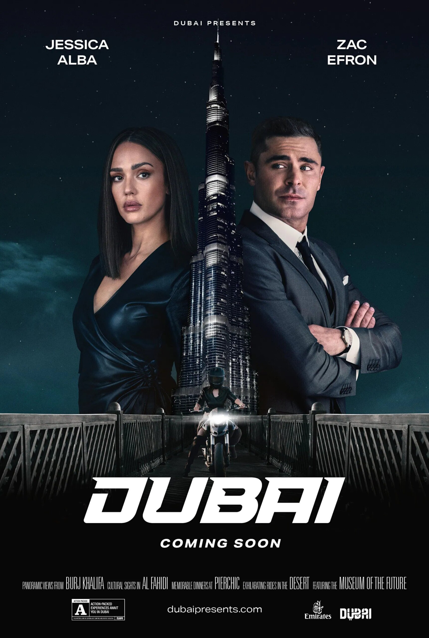 Dubai tourism office pays Zac Efron and Jessica Alba for an ad