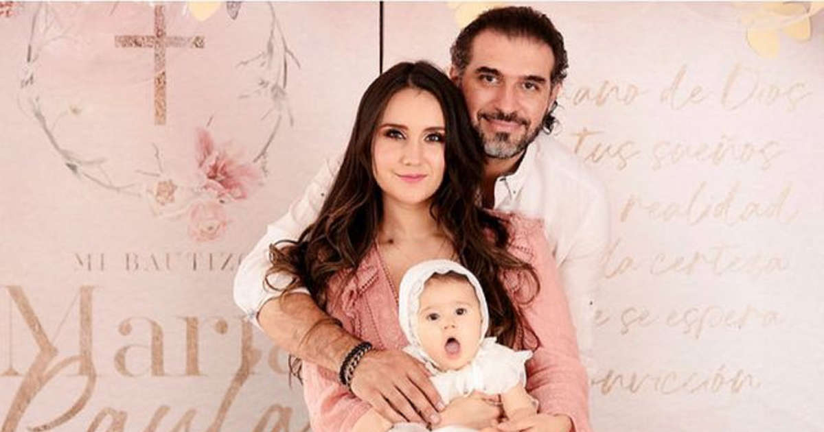 Dulce María: the photo album of her daughter's christening