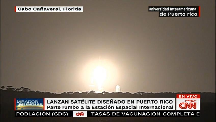 Satellite designed in Puerto Rico launched