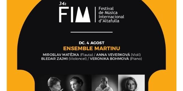 Ensemble Martinu will open the 34th Altafulla International Music Festival