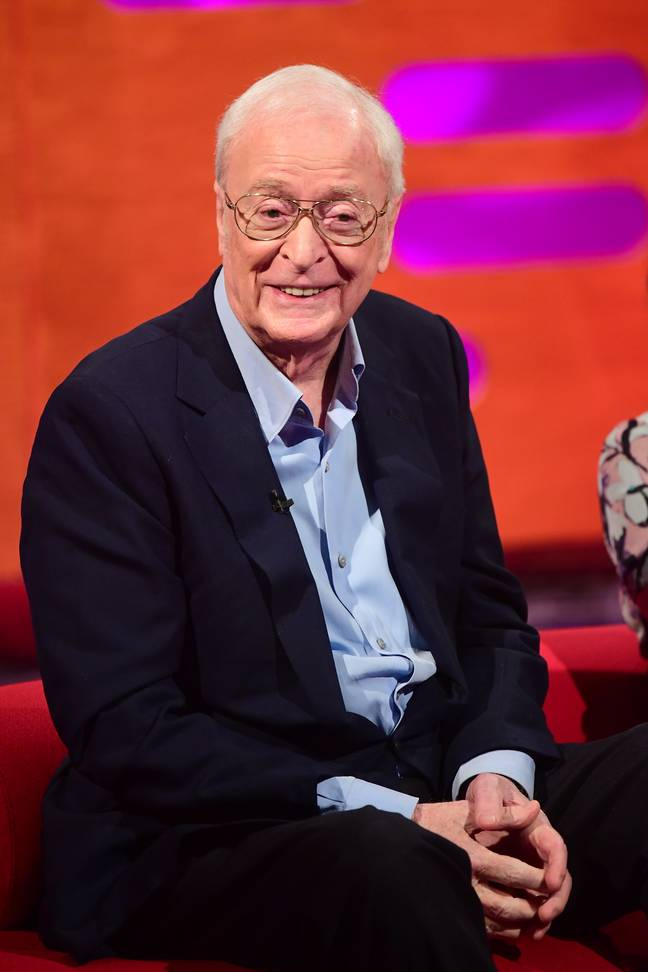 Michael Caine spent eight years trying not to blink on